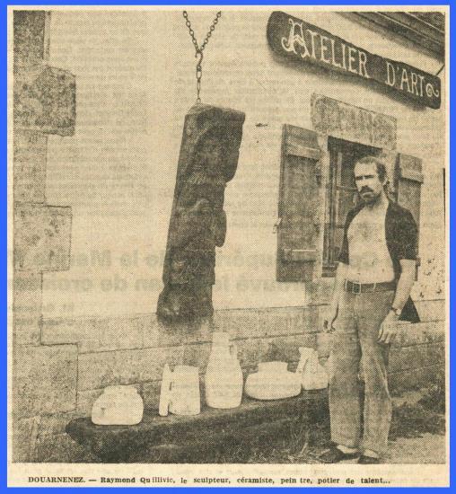 Coupure de presse - Atelier de Kerlaz 1973